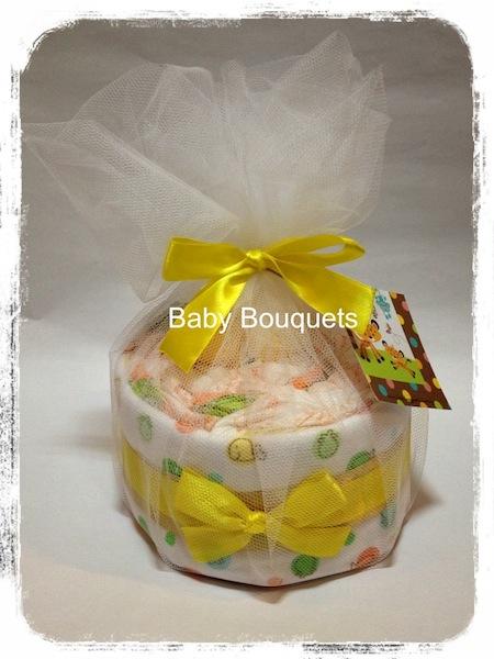 Neutral Flower Cake Bouquet