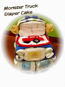Monster Truck Diaper Cake